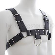 Leather Male Chest Harness Body Belt Bondage Beginner Men Costume Fetish Wear