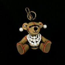 Burberry Thomas Pearly Teddy Bear Cashmere Charm
