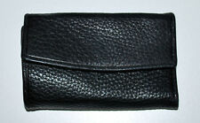 Abas Black Leather Snap Six Key Wallet Easy Key Access Excellent Craftsmanship