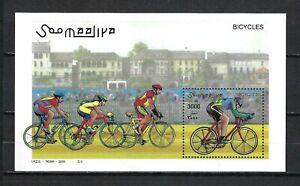 Somalia 2000 Mi#822 Block 68  Bicycles/Cyclists  MNH Souvenir Sheet $13.80