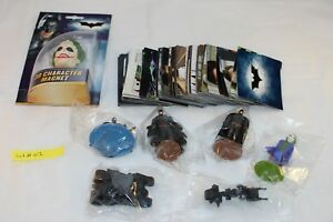 C2008 Batman The Dark Knight 126 Stickers & 6 figurines in Mint Condition Lot 01