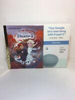 Google Home Mini (Aqua) & Frozen II Book Bundle NIB Disney Read Along - A4