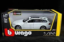 BMW 3 SERIES TOURING WHITE 1:24 Diecast Car Model Die Cast Cars white Metal