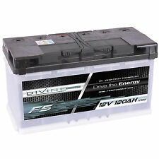DiVine F5 12V 120Ah Batterie Solar Versorgung Notstrom Windkraft Beleuchtung