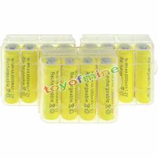 12 pcs AA 3000mah NiMH 1.2v Yellow Rechargeable Battery+3 pcs Plastic case