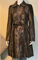 Karen Millen Women Pony fur Leopard Print  Military Coat SIZE Uk 8-16 RRP£350