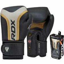RDX Boxhandschuhe T17 Aura Schwarz 10-16 oz MMA Muay Thai Sparring Kickboxen