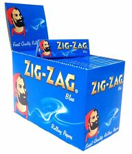 NEW ZIG ZAG BLUE REGULAR GENUINE FULL SMOKING CIGARETTE ROLLING PAPER 100BOOKLET