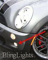 White LED Fog Lamps Driving Light Halo Kit For 2001-2006 Mini Cooper R53