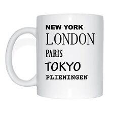 New york, Londres, paris, tokyo, plieningen tasse de café tasse