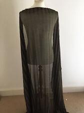 Gold Studded Striped Mesh Jersey  Dressmaking Fabric