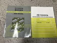 2005 TOYOTA ECHO Electrical Wiring Diagram & Body Collision Manual Set OEM