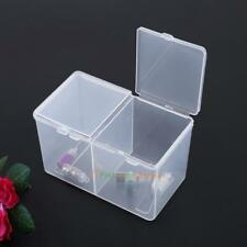 Double Grids Storage Box Cotton Sheets Pads Swabs Holder Manicure Tool Organizer