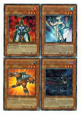 4-Rare set: Neo-Spacian Dark Panther_ Aqua Dolphin_FlareScarab_Grand Mole yugioh
