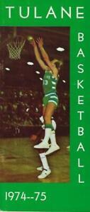 1974-75 Tulane University Basketball Media Guide - Phil Hicks