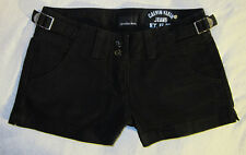 CK Calvin Klein Black Denim Jean Shorts W 29 Brand New Hot Pants Summer Wear