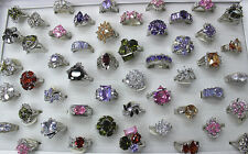 20pcs Wholesale Mixed Lots Filled Charming CZ Ring Lady's Fashion Rings EH372