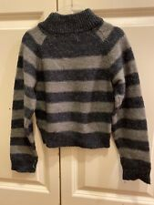 imps elfs Boys Gray Striped Sweater Bonpoint Style Holiday Gift Size 6