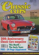 Classic Cars 03/1993 featuring Maserati, Bristol, Jensen, Citroen, Austin Healey