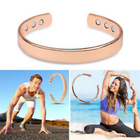 Men Magnetic Healing Therapy Arthritis Pain Relief Copper Bangle Bracelet Unisex
