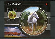 Togo 2015 MNH Horses 4v 1v S/S Fauna Chevaux Arabian Horse Cheval arabe
