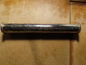 Christening/Baptismal Day Metal Certificate Tube: Ornate: Not Yet Enscribed
