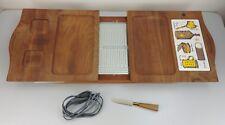 Vintage MCM Jaxton Electric Hot Server Plate Teak Wood Board Mdl 701 Made In USA