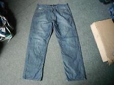 """Calvin Klein rilassato Jeans Dritti Vita 34"""" Gamba 32"""" Sbiadito Jeans Da Uomo Blu Scuro"""