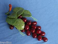 Jade Deko Trauben Henkeltrauben Weintrauben in rot Länge 22 cm,435 g,Neu