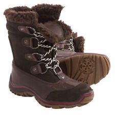 PAJAR $185 NEW  COFFEE BROWN LEATHER ALINA WATERPROOF SNOW BOOTS  39  8 8.5