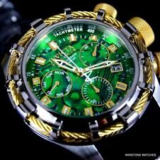 Invicta Reserve Bolt Sport Green Abalone Yellow Gold Tone Cable 50mm Watch New