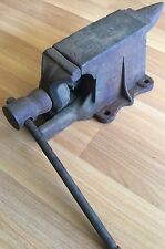 OLD VTG ANTIQUE BLACKSMITH ANVIL VICE DECORATIVE IRON TOOL BENCH HORN UNIQUE