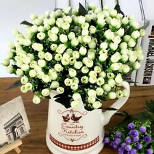 36HEAD ARTIFICIAL SILK FLOWERS BUNCH Wedding Home Grave Outdoor Bouquet Colorful