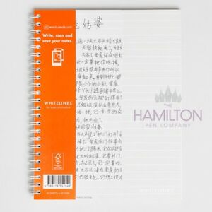 WHITELINES LINK A5 NOTEBOOK - Softcover with lined, dotted or squared pages