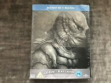 Creature From the Black Lagoon 60TH ANNIVERSARY SEALED BLU RAY 3D + 2D Steelbook