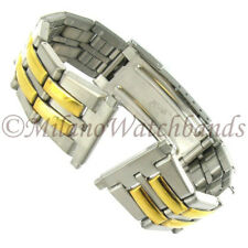 18-22mm Speidel Stainless Steel Two Tone Deployment Buckle Watch Band 1765/15