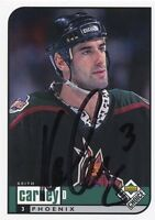KEITH CARNEY COYOTES AUTOGRAPH AUTO 98-99 UPPER DECK UD CHOICE #155 *30585