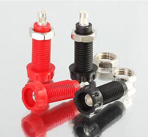 4 Deltron PANEL SOCKETS for 4mm Speaker Plug Connectors Red Black * 563 Series