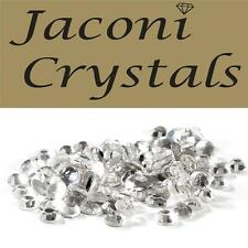 100 x 2mm JACONI Clear Glass Loose Round Flat Back Crystal Craft Embellishment