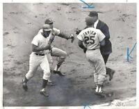 1965 Baseball Wire Photo, Ernie Banks Chicago Cubs Dick Groat Julian Javier