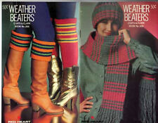 CROCHET Knit Patterns HAT Bag BERET Mittens HOODED SCARF Tote LEG WARMERS