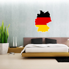 "Germany Map Flag Wall Decal Large Vinyl Sticker 25"" x 18"""