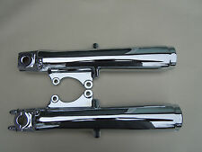 HARLEY CHROME TOURING FORK SLIDER LEGS 1984-1999 SHOW QUALITY **EXCHANGE SALE***
