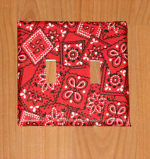 RED BANDANA  Switch plate Double Switchplate Cover
