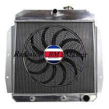 "3 ROW for 1955-1959 CHEVY PICKUP TRUCK Aluminum Radiator 1956 1957 1958 +16""FAN"