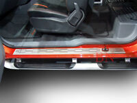 STAINLESS SCUFF PLATE 2 DOOR SILL FOR FORD RANGER PX 12-18 SCUFF PLATES OPEN CAB