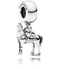 Authentic Pandora Charm Disney Maximus Tangled Horse 791810 W Tag & Suede Pouch