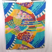 Vintage Wamsutta Full Flat Bed Sheet Supercale 100% Cotton 90s Fabric Paintbrush