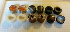 "Body Jewelry Piercing Lot Plugs Gauges Tunnels 7/8"" 3/4"" stone wood silicone"