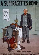 "Vintage Suffragette Propaganda ""A SUFFRAGETTE'S HOME"" 250gsm A3 Poster"